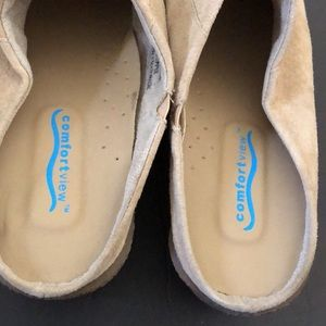 comfortview Shoes - 👡Comfort View Leather Upper Mule Tan Size 9W